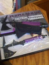 Purple Haze Tactical Throwing Tomahawk Axe United Cutlery W/ Sheath In Orig Box