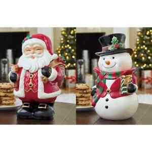 12 Inch (31cm) Santa or Snowman Cookie Jar Table Top Christmas Ornament