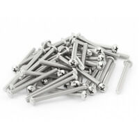 "50pcs #8-32 x 1 5/8"" Stainless Steel Truss Head Phillips Machine Screw Fasteners"
