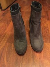Juicy Couture Livia Size 8.5 Ankle Boots Booties Zip Up Charcoal Heel