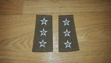 SADF SOUTH AFRICAN ARMY NUTRIA BROWN CAPTAIN RANK SLIDES X 2