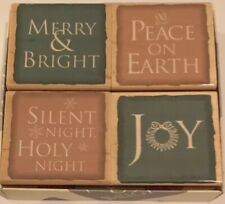Hero Art 4pc Box Set TRADITIONAL HOLIDAY MESSAGES Wood Mount Rubber Stamp LL613