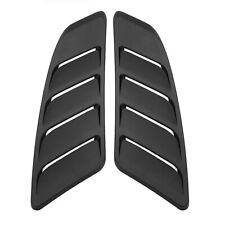 2x Unpainted Black Car Auto Front Hood Bonnet Vent For Ford Mustang 2015-2017
