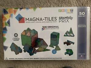 Magna Tiles grand prix frost car set 50 PC pieces race game BRAND NEW ORIGINAL