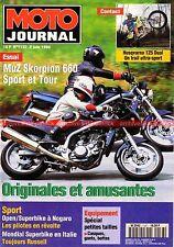 MOTO JOURNAL 1137 Muz Skorpion 660 Tour HARLEY DAVIDSON 750 WLA Husqvarna 125