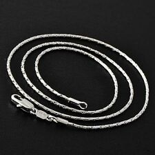 18 inch Mens  Real Stainless Steel Silver Jewelry Hip Hop Snake Chain Necklace