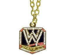 WWE World Title Belt Pendant Necklace,Wrestling Heavyweight Champion