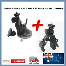 GoPro Hero 6 / 5 / 4 Session Suction Cup & Handlebar Mount Go Pro Cap Claws Jaws