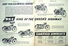 Vintage 1955 B.S.A. Motor Cycles ADVERT Range - Original Print AD
