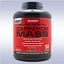 MUSCLEMEDS CARNIVOR MASS (6 LB) beef gainer protein isolate bcaa carbs creatine