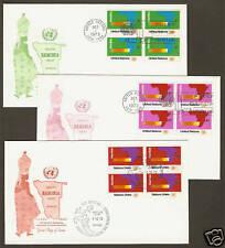 UN #240-41 & 34 Geneva- Namibia Set (3) Artmaster B4FDCs