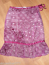 Lux Magenta Sheer Crushed Velvet Burnout Floral Skirt 5
