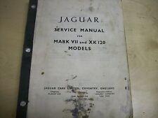 JAGUAR SERVICE MANUAL FOR MARK VII AND XK120 CARS