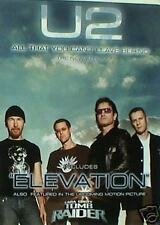 "U2 ""Elevation"" U.S. Promo Poster - Group Shot With Clouds Behind Them"