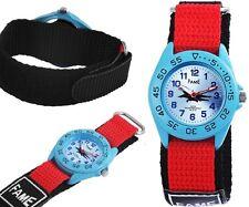 Kinder Jungen Mädchen Armbanduhr Silber/Blau/Rot/Schwarz Flugzeug Klettarmband