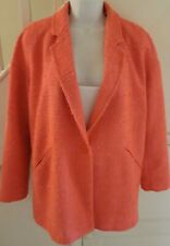 Ladies River Island Bright Pink Boucle Coat Size 10