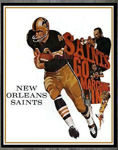 Vintage NFL 1967 New Orleans Saints REPRINT Poster Color 8 X 10 Photo Picture