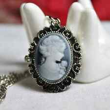 Cameo Watch Oval Traditional Pocket 80cm Necklace Grey