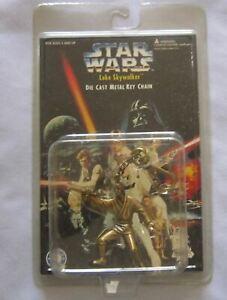 Kenner Star Wars Die Cast Luke Skywalker Keychain Action Figure Placo 1996