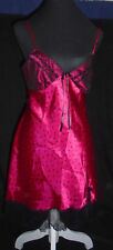 California Dynasty Red Black Sequins Lace Polka Dot Nighty BabyDoll Lingerie S