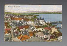 Ansichtskarte ZÜRICH u. die ALPEN um 1928