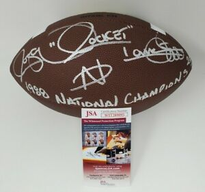 Rocket Ismail Notre Dame Fighting  Irish Autographed Signed NCAA Football