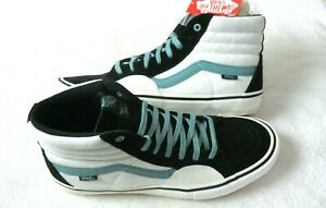 Vans Men's Sk8-Hi Pro Fabiana Delfino Black Oil Blue White Shoes Size 11.5 NWT