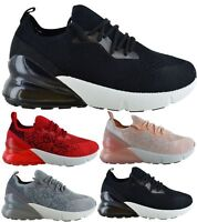 LADIES WOMENS SPORT GYM AIR SHOCK ABSORBING FITNESS SNEAKER TRAINERS SHOES SIZE
