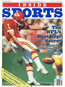 1981 (8/31) Inside Sports Football Magazine, Bob Grupp, Kansas City Chiefs ~ VG