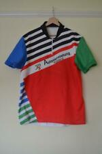 """RETRO MENS MULTICOLOURED SHORT SLEEVE CYCLING JERSEY MENS CHEST 46"""""""