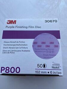 3m Purple Finishing Sanding Disc 30670 P800