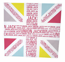 Graham & Brown Wooden Framed Printed Wall Canvas - Text Union Jack - 50 x 50 cm