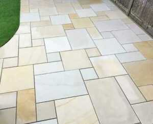 INDIAN SANDSTONE - PATIO PAVING CLEANER BLACK SPOT REMOVER  GREEN MOULD