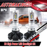 Pair H4 9003 ZES LED Headlight Conversion Kit Lamp Bulbs High/Low 1050W 157500LM