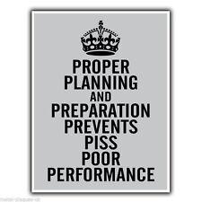Una corretta pianificazione e preparazione 7 PS Militare Preventivo Placca Di Metallo Segno
