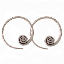 Coil Earrings Pure Silver Karen Hill Tribe