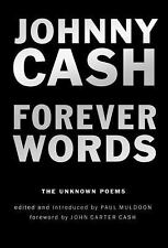 "JOHNNY CASH ""FOREVER WORDS: THE UNKNOWN POEMS"" NEW HARDCOVER LOWEST EBAY PRICE"