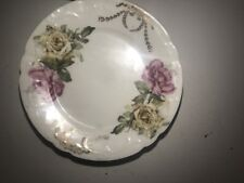 "6"" Saucer Set, Set Of 6 Flower Pattern Saucers"