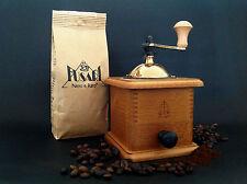 MACINACAFFE' MANUALE in FAGGIO CHIARO + 250 g CAFFE' FUSARI in grani