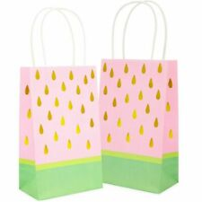 24x Watermelon Paper Party Favor Gift Bags with Handles for Birthday Baby Shower