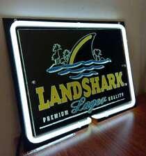 LED NEON Light Sign LANDSHARK Lager Beer Bar Miller NFL NHL ATM Car Bike