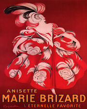 MARIE BRIZARD ANISETTE FRENCH LIQUEUR CAPPIELLO 8X10 VINT POSTER REPRO FREE S/H