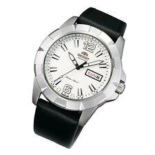 Orient Reloj Pulsera Hombre Deportivo Automático Blanco Día Fecha de cuero