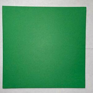 8x8 Brite Green Smooth 25 Sheets 65# Cardstock Scrapbook Paper