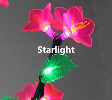 5ft LED Christmas Light Tree 480pcs LEDs New Type Pink Flower + Green Leaf IP65