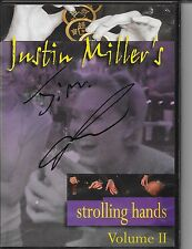 Justin Millers strolling hands vol. 2 DVD Autographed Kozmo Magic tricks