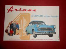 Ancien buvard publicitaire Ariane la grande Voiture française