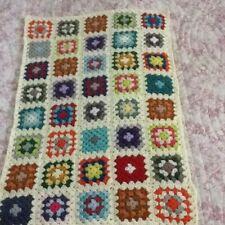 Crochet granny blanket hand made By Me. 97cm X 64 cm