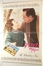 THE CHRISTMAS TREE L' ARBRE DE NOEL Brook Fuller Movie Program japanese:p46