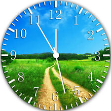 Country Road Frameless Borderless Wall Clock Nice For Gifts or Decor Y119